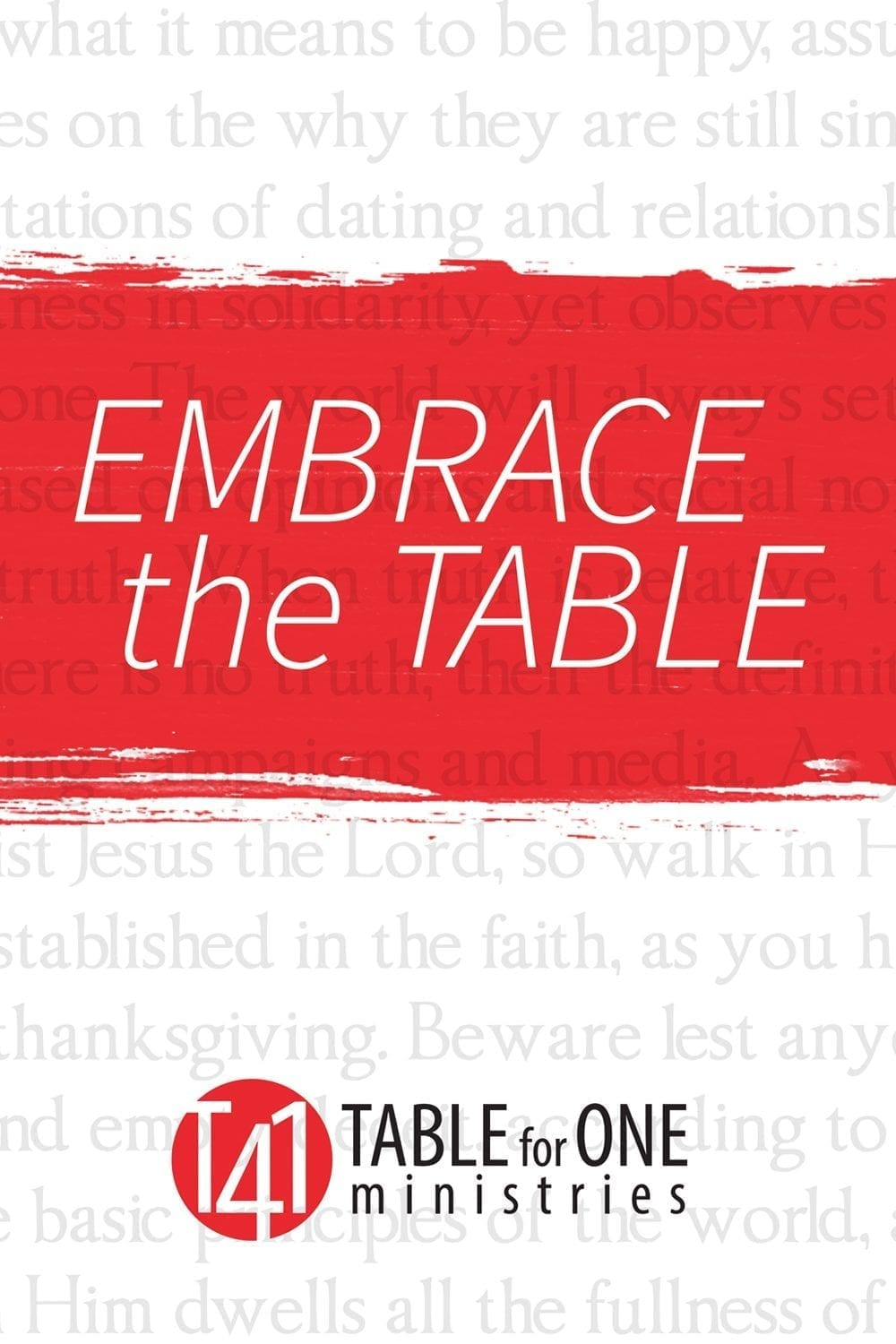 Table for One Ministries - Ministry for Singles and Leaders to Singles - Logo - Be Complete In Christ - singles ministry resources - single adults ministry resources - Single adult bible study - single adult bible studies